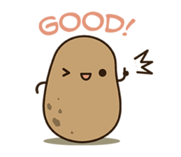 Kawaii Potato sticker #14287240