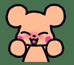 Cute movement bear sticker #14306476