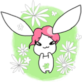 Pink haired rabbit sticker #14310952