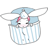 Pink haired rabbit sticker #14310978