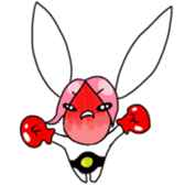 Pink haired rabbit sticker #14310988