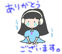 headphone boy&girl sticker #14313175