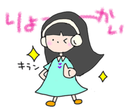 headphone boy&girl sticker #14313176