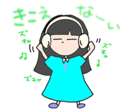 headphone boy&girl sticker #14313179