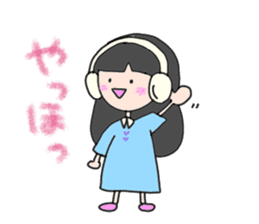 headphone boy&girl sticker #14313183