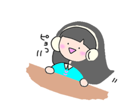 headphone boy&girl sticker #14313185