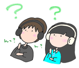 headphone boy&girl sticker #14313192