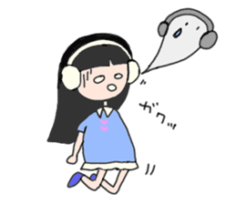 headphone boy&girl sticker #14313199