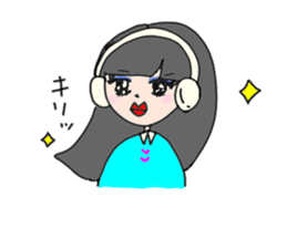 headphone boy&girl sticker #14313204