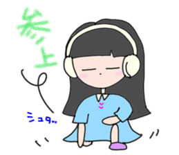 headphone boy&girl sticker #14313208