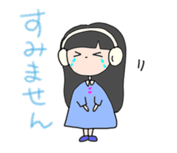 headphone boy&girl sticker #14313209