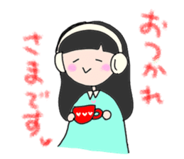 headphone boy&girl sticker #14313210