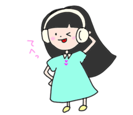 headphone boy&girl sticker #14313211