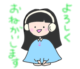 headphone boy&girl sticker #14313212
