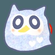 สติ๊กเกอร์ไลน์ COLORFUL OWL...!