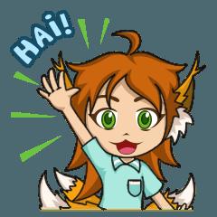 ruchii the five-tailed fox girl