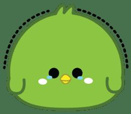 Green Chubby Chicken sticker #14329626