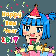 สติ๊กเกอร์ไลน์ Nami Happy New Year