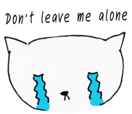 Empty cat sticker #14338952