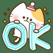 kawaii animal family-for winter- sticker #14342463