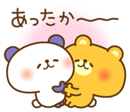 kawaii animal family-for winter- sticker #14342473