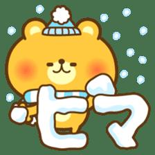 kawaii animal family-for winter- sticker #14342475