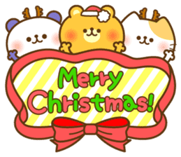 kawaii animal family-for winter- sticker #14342479