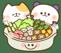 kawaii animal family-for winter- sticker #14342484