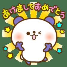 kawaii animal family-for winter- sticker #14342487