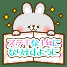 kawaii animal family-for winter- sticker #14342493
