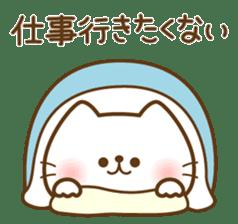 kawaii animal family-for winter- sticker #14342500