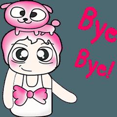 สติ๊กเกอร์ไลน์ ...Mr. Kago and dog pink..^^