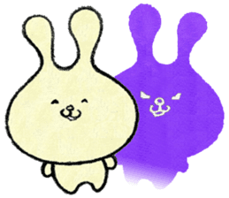 Cute rabbit (1) Chinese (Traditional) sticker #14367028