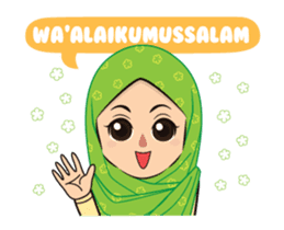 Daily Hijab: Animated sticker #14374690