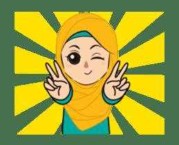 Daily Hijab: Animated sticker #14374697