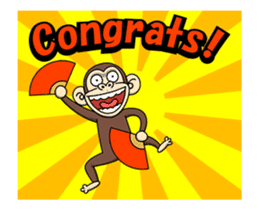Crazy Funky Monkey3 sticker #14375712