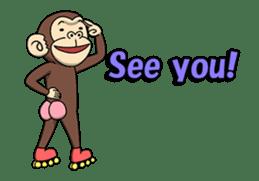 Crazy Funky Monkey3 sticker #14375713