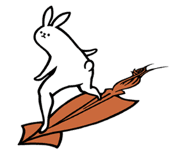 rabbit with beautiful legs 3 sticker #14379423