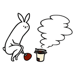rabbit with beautiful legs 3 sticker #14379434