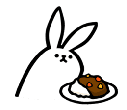 rabbit with beautiful legs 3 sticker #14379444