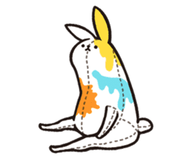 rabbit with beautiful legs 3 sticker #14379450