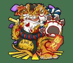 SENGOKU PUZZLE!! ANIMAL DAIGASSEN No.02 sticker #14392963