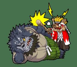 SENGOKU PUZZLE!! ANIMAL DAIGASSEN No.02 sticker #14392964
