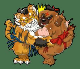SENGOKU PUZZLE!! ANIMAL DAIGASSEN No.02 sticker #14392970