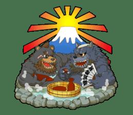 SENGOKU PUZZLE!! ANIMAL DAIGASSEN No.02 sticker #14392974