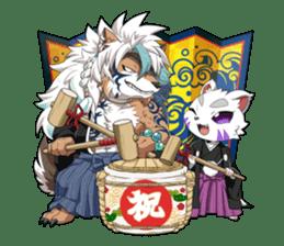 SENGOKU PUZZLE!! ANIMAL DAIGASSEN No.02 sticker #14392975
