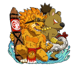 SENGOKU PUZZLE!! ANIMAL DAIGASSEN No.02 sticker #14392981