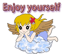 Small Angel(English) sticker #14411778