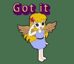 Small Angel(English) sticker #14411781