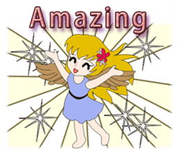 Small Angel(English) sticker #14411788